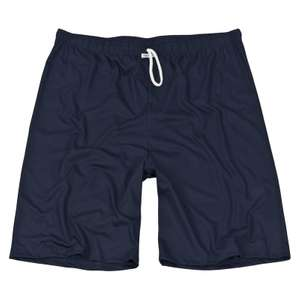 Shorty Hose merzerisiert kurze Pyjamahose blau Kapart