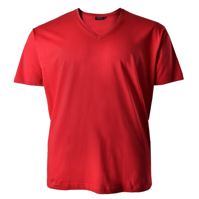 bergr en t shirt rot redfield v ausschnitt quentin. Black Bedroom Furniture Sets. Home Design Ideas