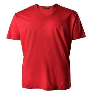 Rotes T-Shirt Redfield Quentin V-Kragen