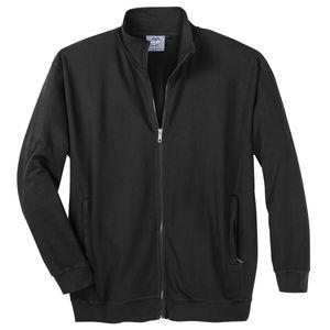 Stehkragen-Jacke Übergröße schwarz Ahorn Sportswear