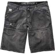 Cargo Denim Bermuda schwarz used Replika by Allsize 001