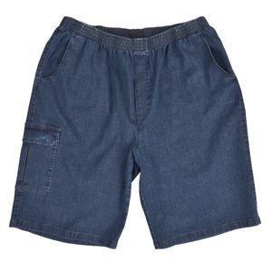 Blaue Jeans Bermuda Gummibund Schlupfhose Luigi Morini