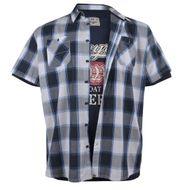 Duke XXL Hemd und T-Shirt Set kariert extra lang 001