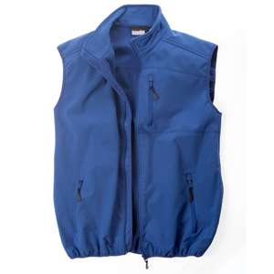 Marc & Mark royalblaue Softshell-Weste Laax