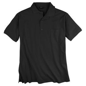Poloshirt Piqué Übergröße schwarz Redfield