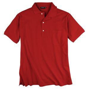 Piqué Poloshirt Übergröße rot Redfield