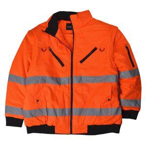 Herren Übergrößen 2 in 1 Warnschutzjacke / Wetterjacke orange