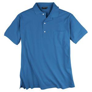 Piqué Poloshirt Herren Übergröße blau Redfield