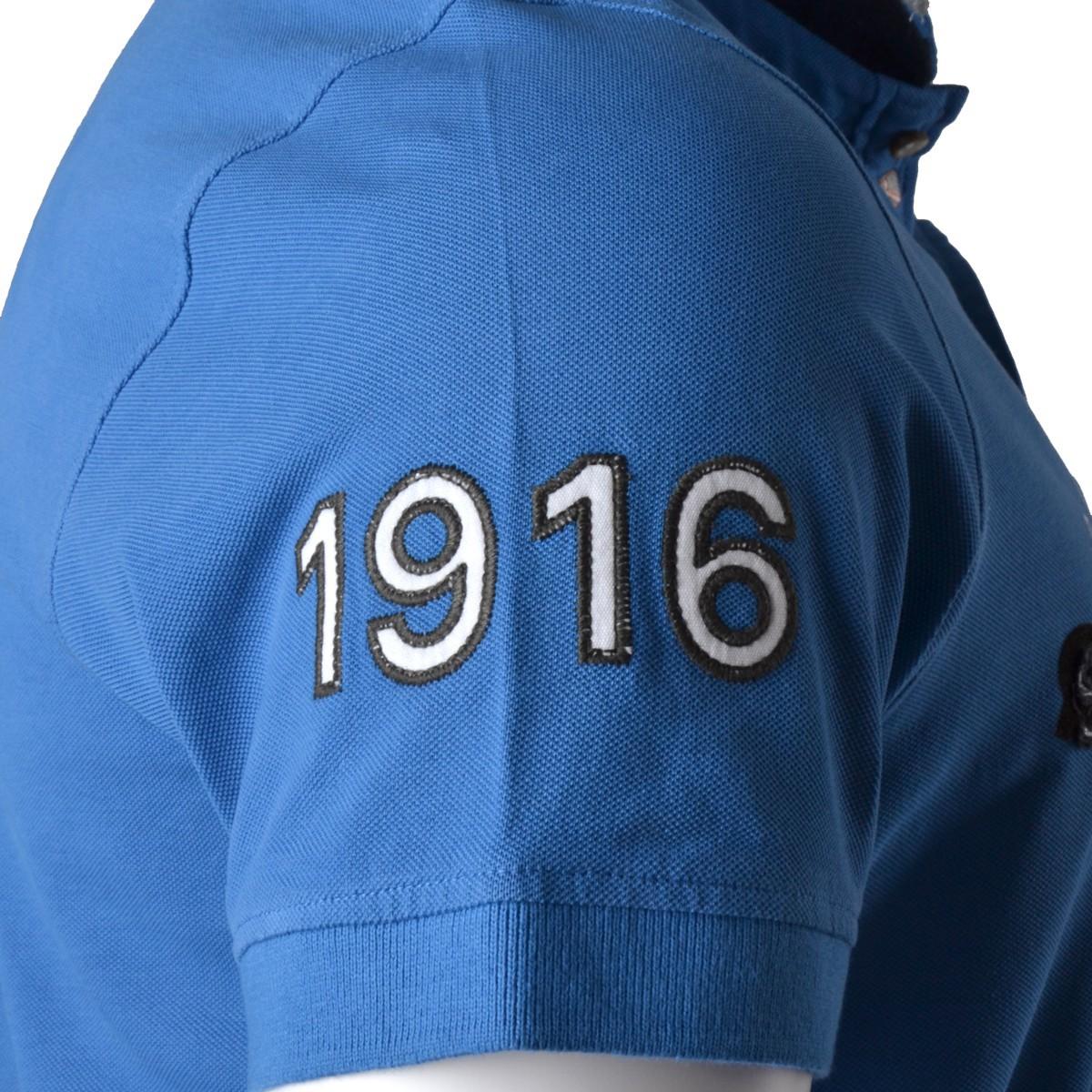 XXL First B Piqué Poloshirt royal blau – Bild 2