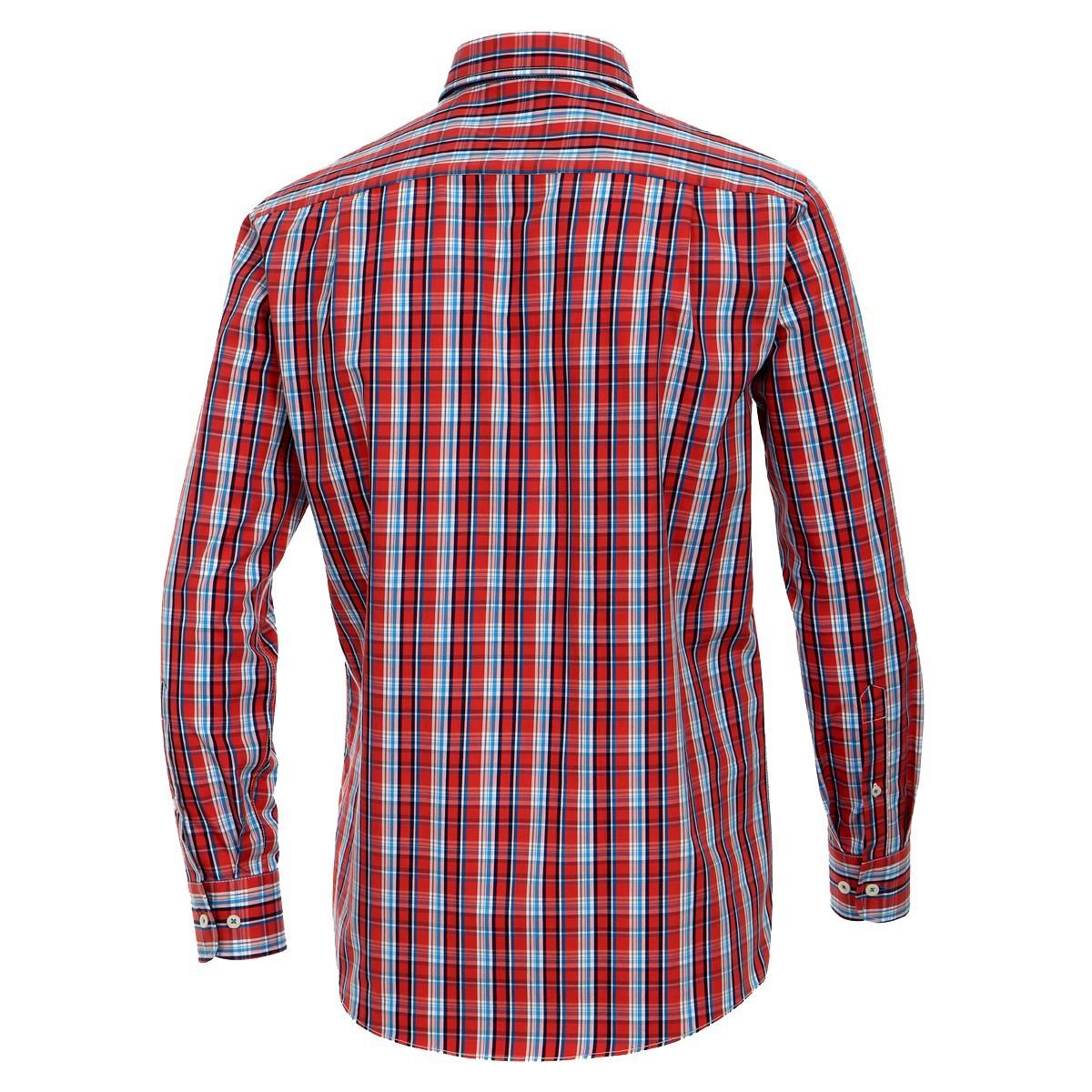 100% authentic 6bbf5 429e1 Herrenhemd langarm rot blau kariert von Casa Moda