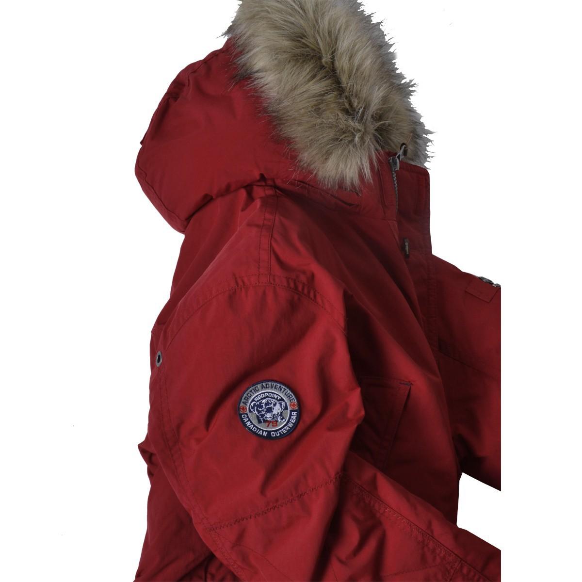 online store 08261 de404 Winter-Parka rot in Übergröße Redpoint
