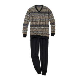 Langarm Schlafanzug von Ceceba in der Farbe schlamm