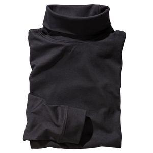 Schwarzes Redfield Rollkragen-Langarmshirt Übergröße