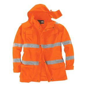 Übergrößen Warnschutzjacke / Wetterjacke orange