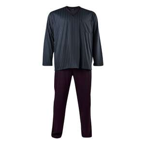 Kapart XXL gestreifter Schlafanzug merzerisiert