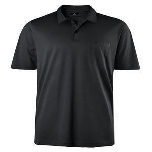 XXL Ragman kurzarm Poloshirt in anthrazit Übergröße