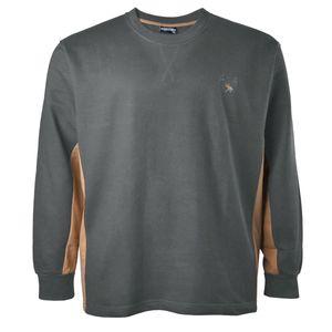 XXL Sweatshirt in anthrazit-camel von Lucky Star