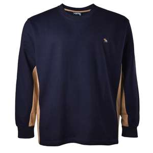 Lucky Star Sweatshirt dunkelblau-camel Übergröße