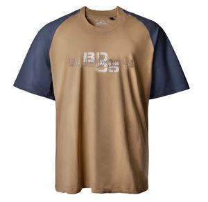 Raglanarm T-Shirt camel-blau Lucky Star