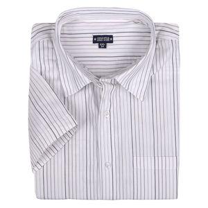 Lucky Star Kurzarmhemd weiß-grau-schwarz gestreift