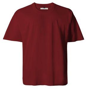 Lucky Star dunkelrotes Basic T-Shirt Übergröße