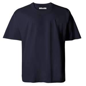 XXL Basic T-Shirt dunkelblau Lucky Star