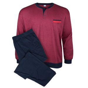 Schlafanzug rot-blau Melange Adamo Fashion Übergröße
