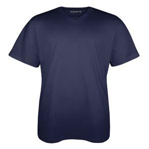 Lucky Star dunkelblaues T-Shirt V-Ausschnitt Übergröße