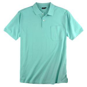 Basic Piqué Poloshirt mint Redfield große Größen