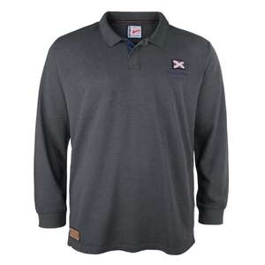 Redfield Heritage Brand New York Langarm-Poloshirt anthrazit meliert