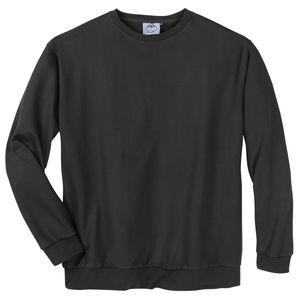693d03ee74135 Rundhals Sweatshirt Übergröße in schwarz Ahorn Sportswear