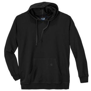 Ahorn Basic Kapuzen-Sweatshirt schwarz