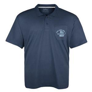 Lucky Star Poloshirt mit Brusttasche denim-blau