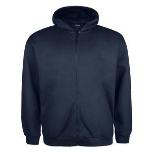 Kapuzen Sweatjacke Lucky Star mit Taschen dunkelblau Übergröße