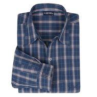 Kariertes Langarmhemd blau-rot-offwhite von Lucky Star Übergröße 001