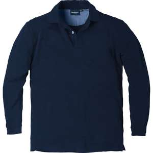 Dunkelblaues Langarm Poloshirt North 56°4 by Allsize