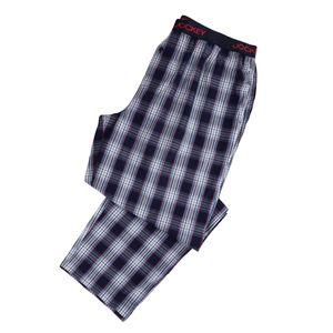 Jockey lange Schlafhose blau-rot kariert Übergröße