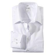 XXL Olymp bügelfreies Langarm-Businesshemd weiß 001