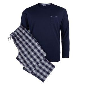 Jockey langer Pyjama XXL blau-rot kariert