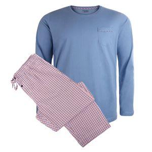Jockey langer Pyjama XXL schwarz-rot-blau kariert