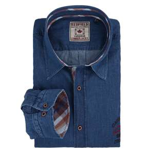Redfield Langarmhemd denimblau