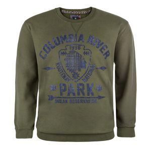 Kitaro moosgrünes Sweatshirt mit Print