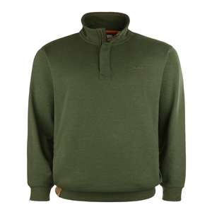 Redfield Troyer-Sweatshirt olivgrün meliert