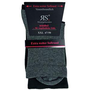 RS Harmony Socke ohne Gummi schwarz/grau 2er Pack