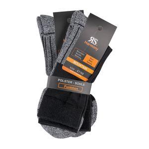 "RS Harmony Funktionsstrumpf ""Mountain"" schwarz 2er Pack Übergröße"