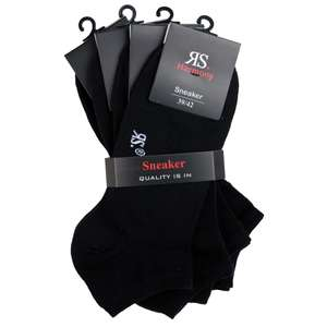 RS Harmony Elasthan Sneaker schwarz 4er Pack Übergröße