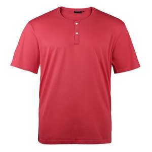 Redfield T-Shirt cranberry mit Knopfleiste XXL