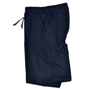Adamo Fashion kurze Jogginghose navy Übergröße