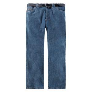 Luigi Morini Jeans blau mit Gürtel Übergröße