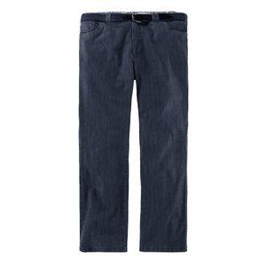 Luigi Morini Jeans dark denimblue mit Gürtel Übergröße